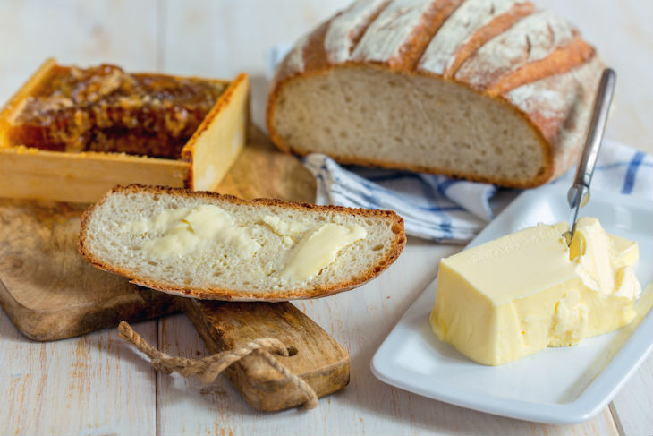 bigstock-Piece-Of-Bread-With-Butter-Clo-143514422